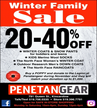 Winter Family Sale