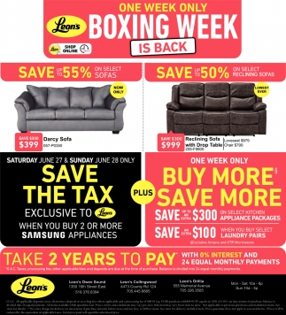 One Week Only Boxing Week
