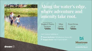 Along The Water's Edge, Where Adventure And Amenity Take Root.