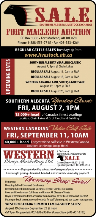 Fort MacLeod Auction