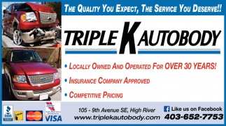 The Quality You Expect, The Service You Deserve!