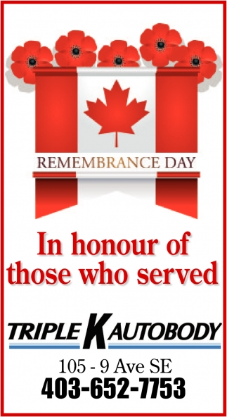 In Honour Of Those Who Served
