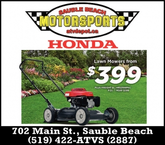 Lawn Mowers From $399
