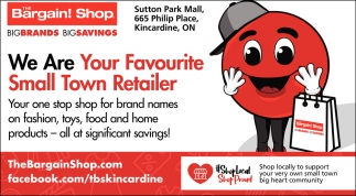 We Are Your Favourite Small Town Retailer