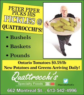 Petter Piper Pick His Pickles