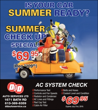 Is Your Car Summer Ready?