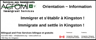 Immigrate and Settle in Kingston!