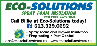 Call Billie at Eco-Solutions Today!