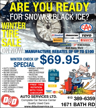 Are You Ready for Snow & Black Ice?