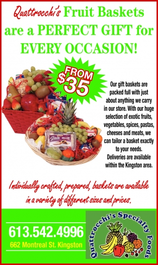 Quattrocchi's Fruit Baskets are a Perfect Gift for Every Occasion!