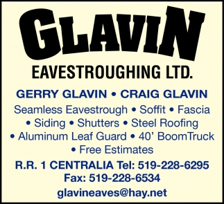 Seamless Eavestrough - Soffit - Fascia - Siding