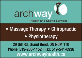 Massage Therapy, Chiropractic, Physiotherapy.