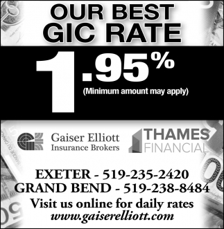 Our Best GIC Rate
