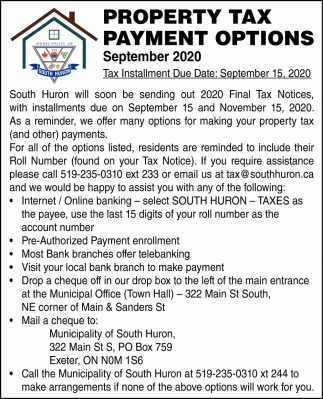 Property Tax Payment Options
