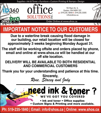 Need Ink & Toner?