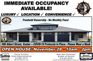 Immediate Occupancy Available!