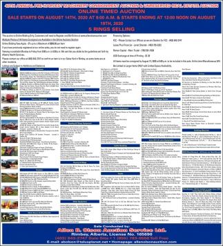 40th Annual Pre-Harvest Machinery Consignment & Real Estate Auction