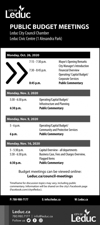 Public Budget Meetings