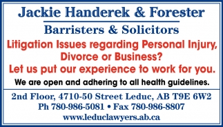 Litigation Issues Regarding Personal Injury, Divorce Or Business?