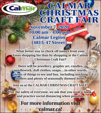 Calmar Christmas Craft Fair