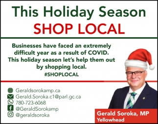 This Holiday Season Shop Local