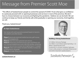 Message From Premier Scott Moe
