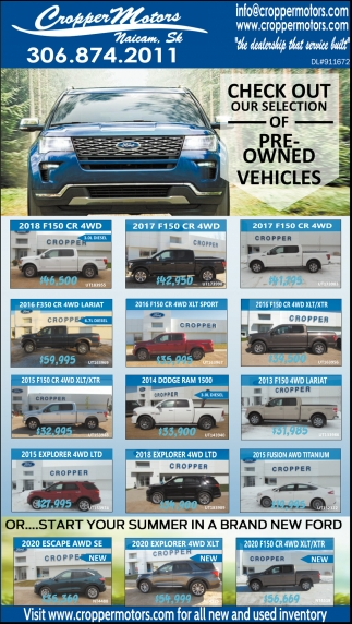 Check Out Our Selection Of Pre-Owned Vehicles