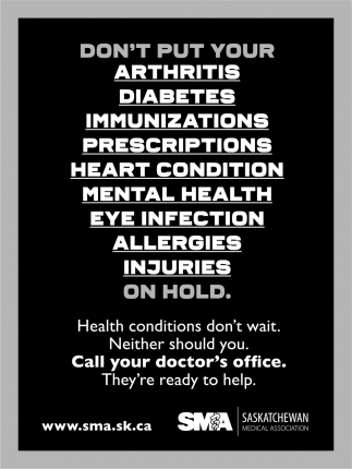 Health Conditions Don't Wait.