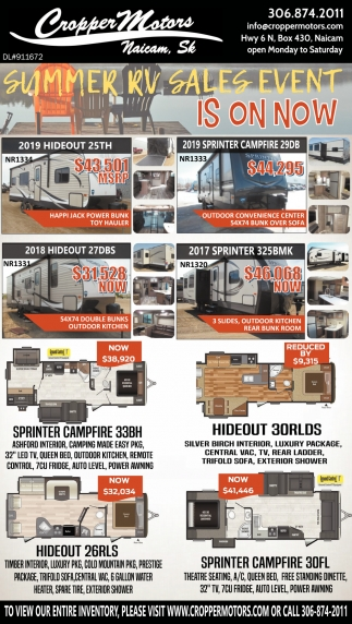 Summer RV Sales Event