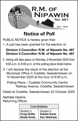 Notice Of Poll