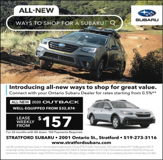 All-New Ways To Shop For A Subaru