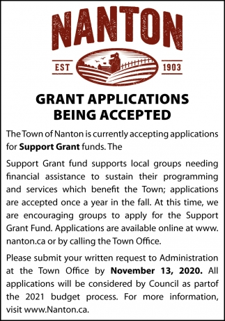 Grant Applications Being Accepted