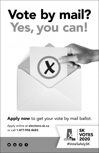 Vote By Mail? Yes, You Can!