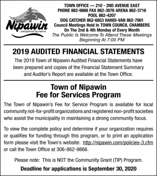 2019 Audited Financial Statement