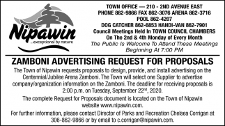 Zamboni Advertising Request For Proposals