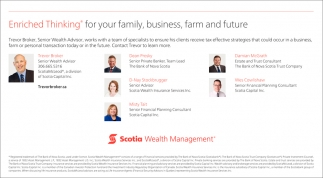 Enriched Thinking For Your Family, Business, Farm And Future.