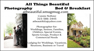 Photography, Bed & Breakfast
