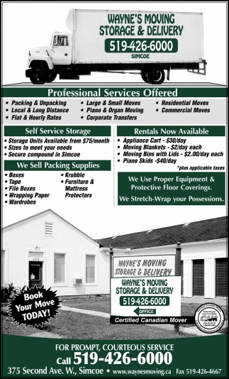 Professional Services Offered
