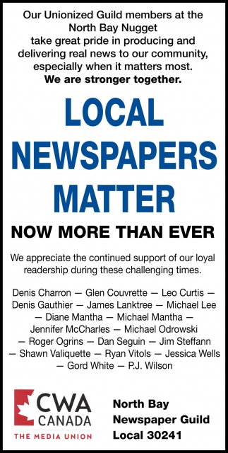 Local Newspapers Matter