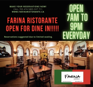 Open for Dine In!