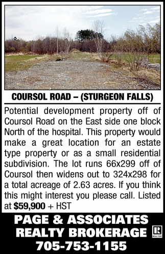 Coursol Road - (Sturgeon Falls)