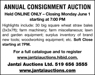 Annual Consignment Auction