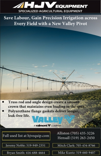 Save Labour, Gain Precision Irrigation Across Every Field With A New Valley Pivot