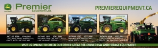 Visit Us Online TO Check Out Other Great Pre-Owned Hay And Forage Equipment