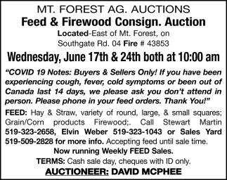 Feed & Firewood Consign. Auction