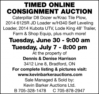 Timed Online Consignment Auction