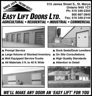 We'll Make Any Door An 'Easy Lift' For You