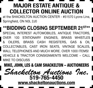 Major Estate Antique & Collector Online Auction