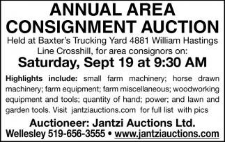 Annual Area Consignment Auction
