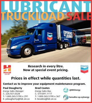 Lubricant Truckload Sale